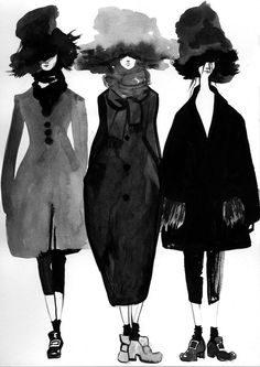 Fashion Illustration by Bijou Karman: