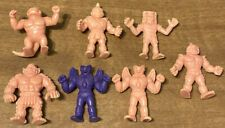Vintage M.U.S.C.L.E. MEN 7 FIGURE TOY LOT Muscle Flesh Mattel
