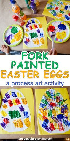 This is a fun and easy Easter Egg craft perfect for toddlers and preschoolers. - This is a fun and easy Easter Egg craft perfect for toddlers and preschoolers. Easter Arts And Crafts, Easter Crafts For Toddlers, Easter Projects, Easter Crafts For Kids, Toddler Crafts, Bunny Crafts, Easter Ideas, Easter Decor, Unicorn Crafts
