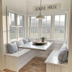 30 luxury kitchen nook design - smart home ideas Elegant Home Decor, Elegant Homes, Future House, House Ideas, Fixer Upper, Modern Farmhouse, Farmhouse Kitchens, Farmhouse Style, Living Room Decor