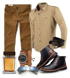 """mens club"" by alice-fortuna on Polyvore featuring Hollister Co., Dolce&Gabbana, Arizona, Ray-Ban, men's fashion and menswear"