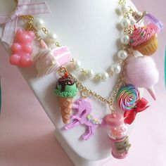 Pink Candy Shop Statement Necklace by Fatally Feminine Designs