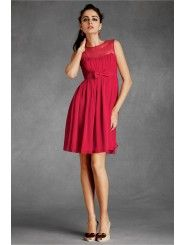 Chiffon Sheer Sweetheart Neckline Knee-Length Special Occasions Dress