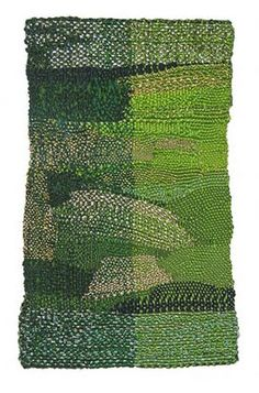 "Sheila Hicks, ""Fallen Tree, Floating (green, gold)"", 2009 Cotton, silk"