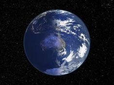 Australia, night-day satellite image
