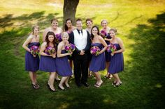 Purple and green themed wedding flowers created by Lexington Floral in Shoreview, Minnesota.     #weddingflowers