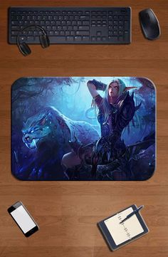 Hearthstone mouse pad girl gift pad to mouse computer mousepad Night Elves gaming padmouse gamer to laptop keyboard mouse mats