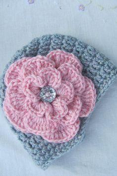 Recién nacido bebé sombrero de vendedor de periódicos con flor