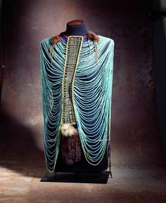 Woman's garment  Late 19th – early 20th century  Dinka people, South Sudan  Glass beads, leather, fur, strings    Source: The Israel Museum