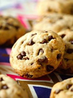 Unbelievably Healthy Chocolate Chip Cookies - no butter, eggs or refined sugar. But you would never know by the way they look and taste!
