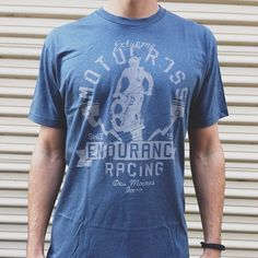 NLA6210 in indigo with med gray #discharge! #screenprinting #apparel #wearthedifference