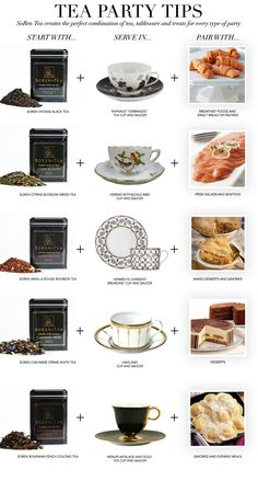 Tea Party Tips - SoRen Tea creates the perfect combination of tea, tableware and treats for every type of party