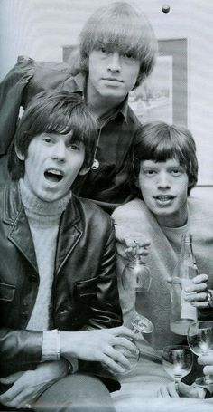 Keith Richards, Brian Jones, and Mick Jagger