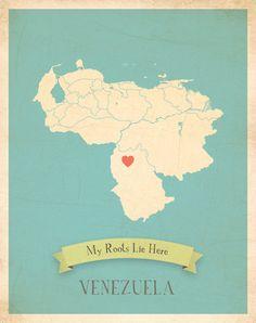 Venezuela Map.