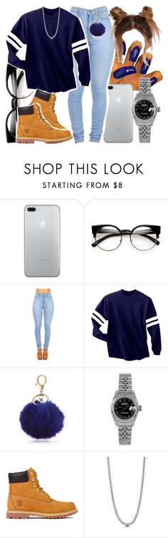 """Untitled #727"" by foreverkaylah ❤ liked on Polyvore featuring New Directions, Rolex, Timberland and BERRICLE"