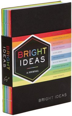 Chronicle Books - Bright Ideas Journal, Hardcover, editura Chronicle Books - This vibrant journal with colorful exposed binding will inspire the most brilliant ideas. With ten different colors of paper and plenty of room to record Paper Place, Scrapbooking, Creative Company, Cheer You Up, Pumpkin Decorating, Decorating Ideas, Journal Notebook, Sticky Notes, Me Time