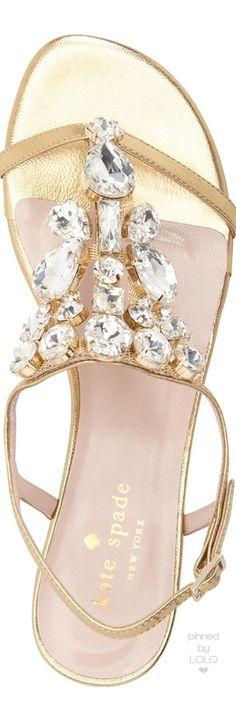 kate spade new york 'fedra' sandal gold   LOLO❤︎