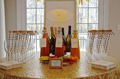 Elegant Champagne Birthday Brunch | CatchMyParty.com