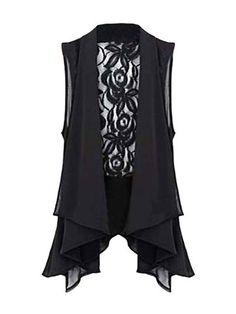 Sleeveless Lace Chiffon Bow Top Blouse
