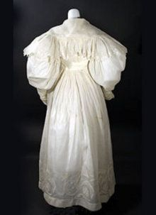 1830 Tambour embroidered morning dress  -  Courtesy of contentmentfarmantiques.com