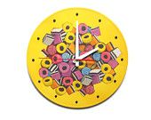 Wall Clock Handful of Candy, unique gift, yellow clock, unique wall clocks, kids wall clocks, decorative wall clocks, kitchen wall clocks