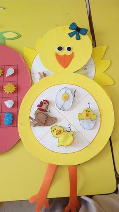 Chicken life cycle craft farm crafts, preschool crafts, crafts for ki Farm Animal Crafts, Farm Crafts, Animal Crafts For Kids, Preschool Crafts, Easter Crafts, Art For Kids, Diy Crafts, Science Experiments For Preschoolers, Science For Kids