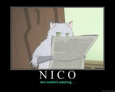 Nico:  Earl & the Fairy- You creepy cat, you. :P