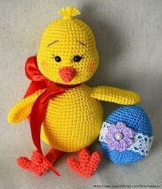 We continue to produce healthy toys and share what we produce with Amigurumi recipes.You can find Amigurumi knitting models on our website. Easter Crochet Patterns, Crochet Birds, Crochet Bunny, Crochet Patterns Amigurumi, Crochet Dolls, Free Crochet, Crochet Parrot, Crochet Penguin, Knitting Patterns