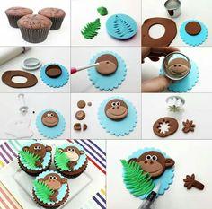Monkey Cupcake Idea