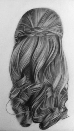 80 hair drawing ideas art in 2019 how to draw hair, hair sketch, art sket. Pencil Drawings Of Girls, Cute Drawings, Hair Drawings, Girl Hair Drawing, Hair Sketch, Sketch Art, Hair Illustration, Hair Reference, Realistic Drawings