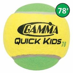 Quick Kids 78 Tennis Balls - 12 Per Bag by Gamma. $9.64. SGM00127. GAMMA Quick Kids 78 Balls are med/high compression (25% reduced speed), high bounce training tennis balls designed for kids moving from a 60 ft. court to full court play. The lower bounce keeps the ball in front of the player providing more time to react and set up each shot for more consistency and control when learning. Quick Kids 78 Balls conform to the ITF Stage 1 specification. 12 balls per bag.