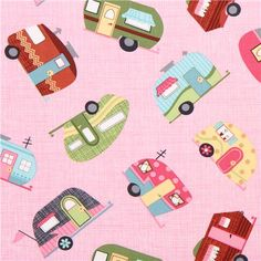 Under the stars pink motorhome fabric Timeless Treasures 1