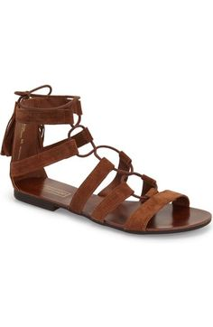 Free shipping and returns on Topshop  Hipster  Lace-Up Sandal (Women) be0d62280d7