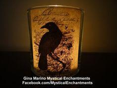 Halloween Nevermore Raven votivetea light by MYSTICALLYENCHANTING, $5.75