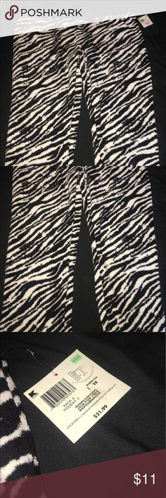 Zebra pants Zebra pants that are super soft! They feel like a blanket so they are the best pair of pajama pants! NWT !! I've just had it in my closet for the longest time and never used because I have too many pairs of pants! Joe Boxer Pants Boot Cut & Flare