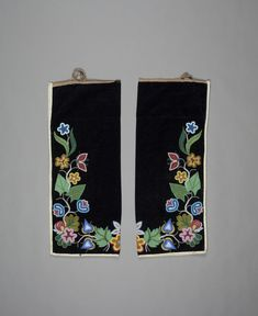 unknown Ojibwa artist (Ojibwa),  Leggings (front), ca. 1900, cotton, velvet, and beads, Gift in memory of Isaac M. Bates by his children and grandchildren, no known copyright restrictions, 84.3.1A-C