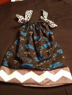 Carolina Panthers Chevron Pillowcase Dress by HayleyWilliamsDesign, $25.00 Etsy.com