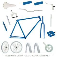 BLUE & WHITE URBAN STYLE FIXED ON ILOVEBIKE.IT All bike accessories on http://www.ilovebike.it