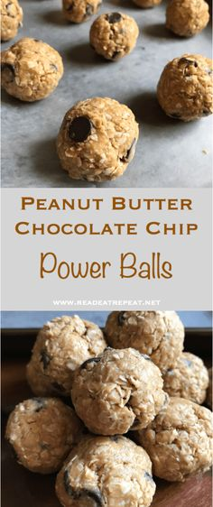 Peanut Butter Chocolate Chip Power Balls Pin