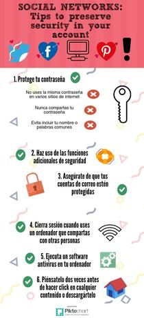 Social Networks: Tips to preserve security in your account #Protégeteenred #REDucación #CDigital_INTEF