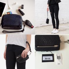 Alexander Wang Black Fumo Leather Travel Wristlet Silver Hardware Sold Out   eBay