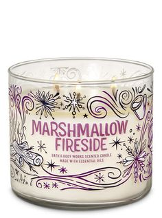 Home Fragrance - Marshmallow Fireside Candle – Bath And Body Works - Bath Candles, 3 Wick Candles, Scented Candles, Candle Jars, Bath N Body Works, Bath And Body Works Perfume, Candle Maker, Wax Warmers, Christmas Candles