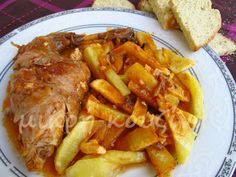 μικρή κουζίνα: Kουνέλι ζακυνθινό με ντόπιο λαδοτύρι Greek Dishes, Chicken, Meat, Food, Beef, Meals, Yemek, Cubs, Eten