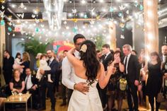 Room Decor paper cranes string lights hair first dance Photo in Our winter wedding dec 2014 (Photo Cred: Tara Noelle Photography) - Google Photos