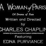 La donna di Parigi - 100 anni di Charlot in pillole #2