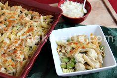 Chicken Asparagus Pasta Bake | Bakerette.com