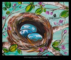 Robin Eggs Painting - Jackie Schon, The Paint Bar