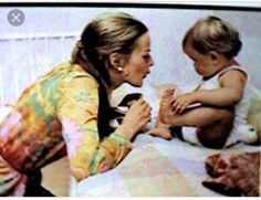 Anni Frid Lingstad and her beautiful daughter Lise Lotte
