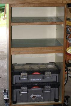 Shop storage cabinet .