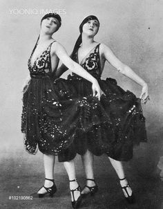 The Dolly Sisters in League of Notions, London, 1921 - YOONIQ Images - Stock photos, Illustrations & Video footage